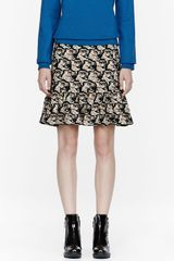 Kenzo Tan Tiger Head Jacquard Stretch Skirt - Lyst