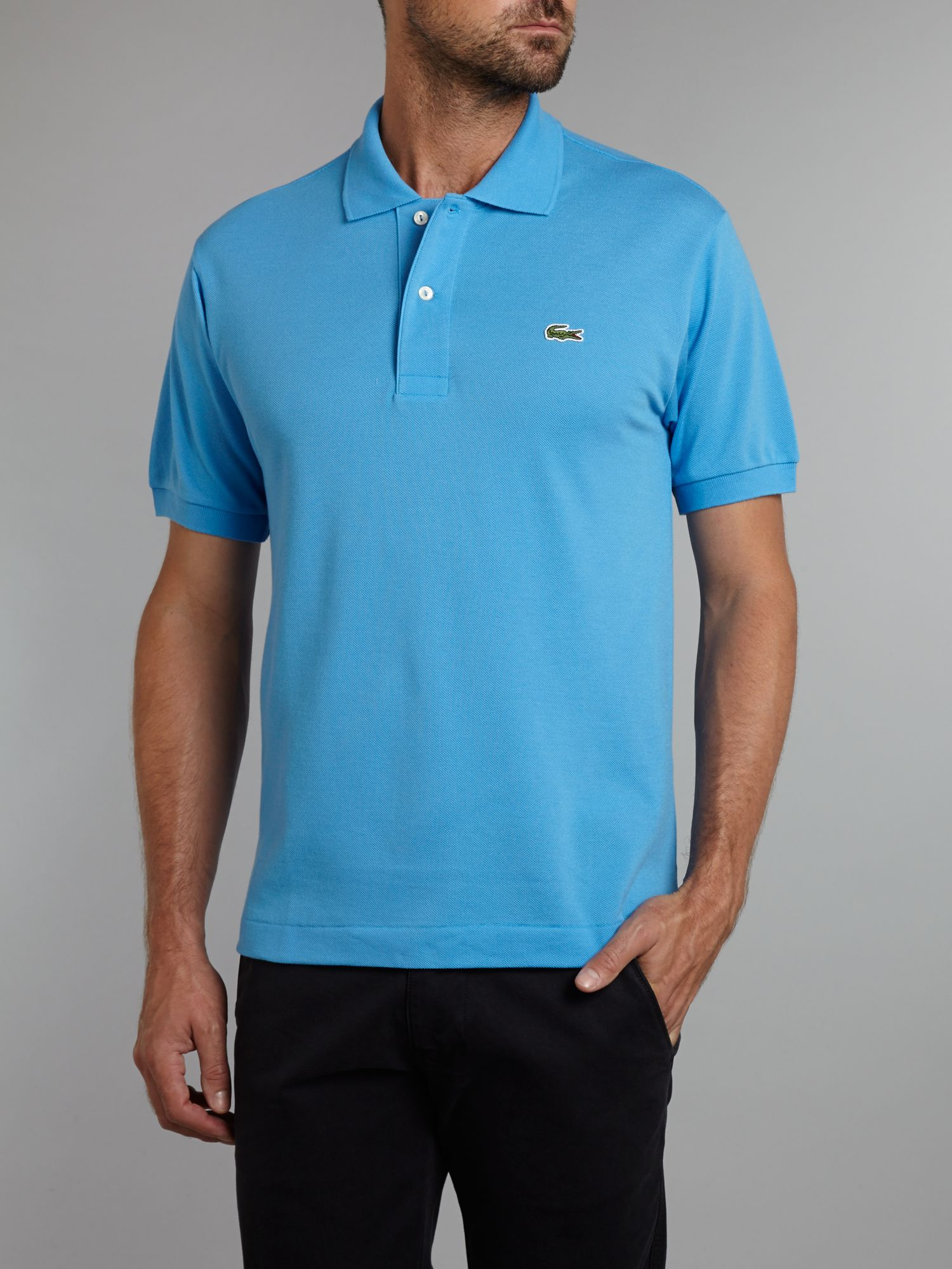Lacoste classic polo shirt in blue for men lyst for Boys lacoste polo shirt