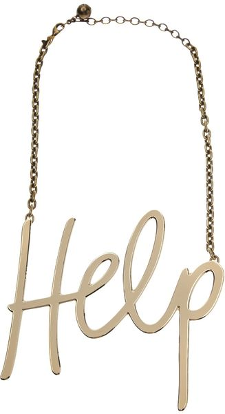 Lanvin Help Pendant Necklace - Lyst
