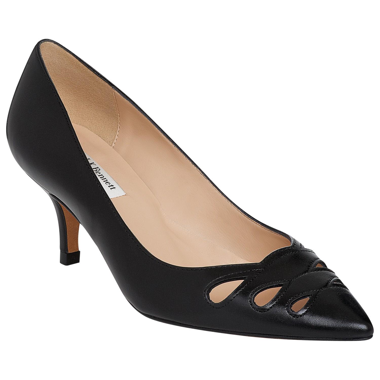 fbc232aade5 L.K.Bennett Marlie Cut Out Detail Court Shoes in Black - Lyst
