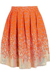 Matthew Williamson Winter Garden Embellished Organza Skirt - Lyst