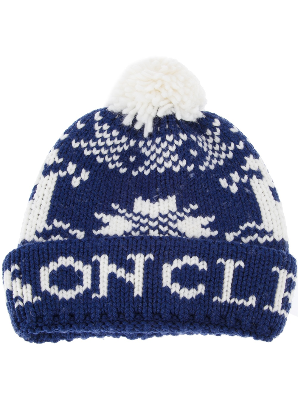 ad89f9ff651 ... on wholesale b7d32 54396 Moncler Fair Isle Beanie Hat in Blue for Men -  Lyst ...