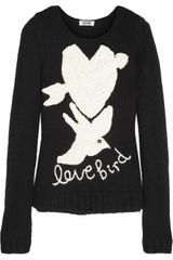 Moschino Cheap & Chic Love Bird Intarsia Knitted Sweater - Lyst