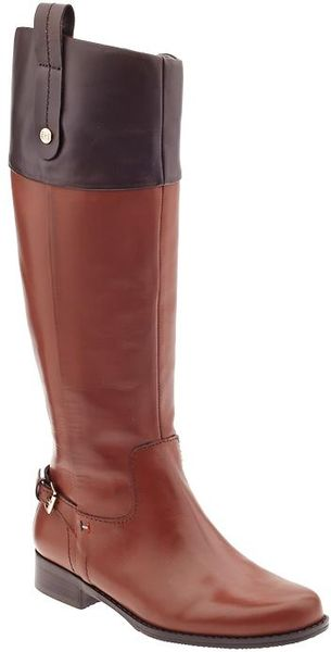 Tommy Hilfiger Hamden Tall Riding Boots in Brown (Cognanc/Brown)