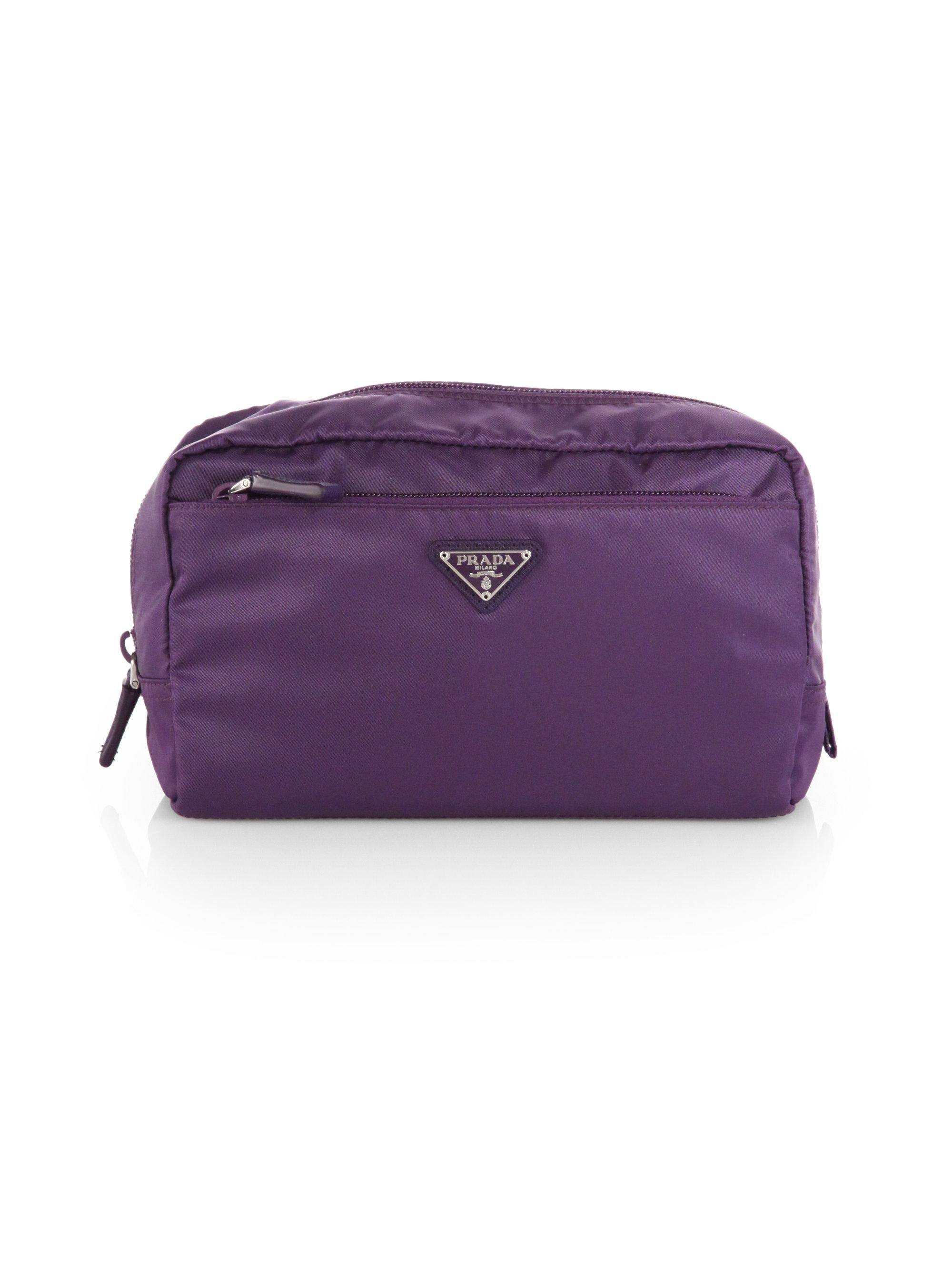 b1a61b83c9f7fd Prada Vela Extra Large Nylon Cosmetics Case in Purple - Lyst