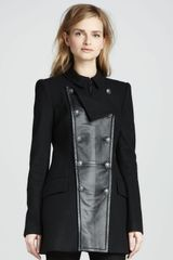 Rachel Zoe Monaco Leather Panel Coat - Lyst