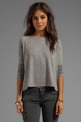 Rag & Bone Camden Long Sleeve Tee in Gray - Lyst