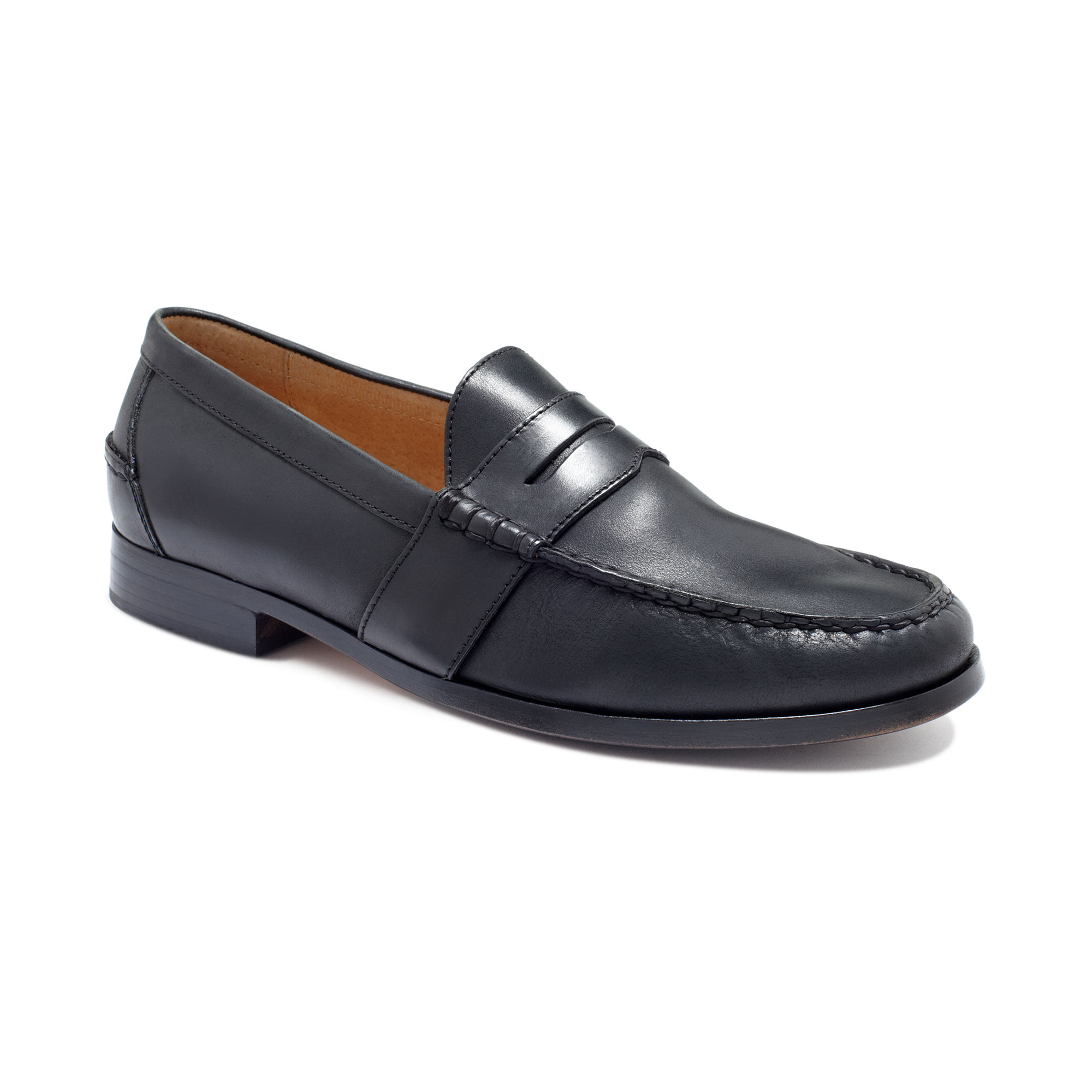 Rubber Rings For Men >> Ralph lauren Arscott Penny Loafers in Black for Men | Lyst
