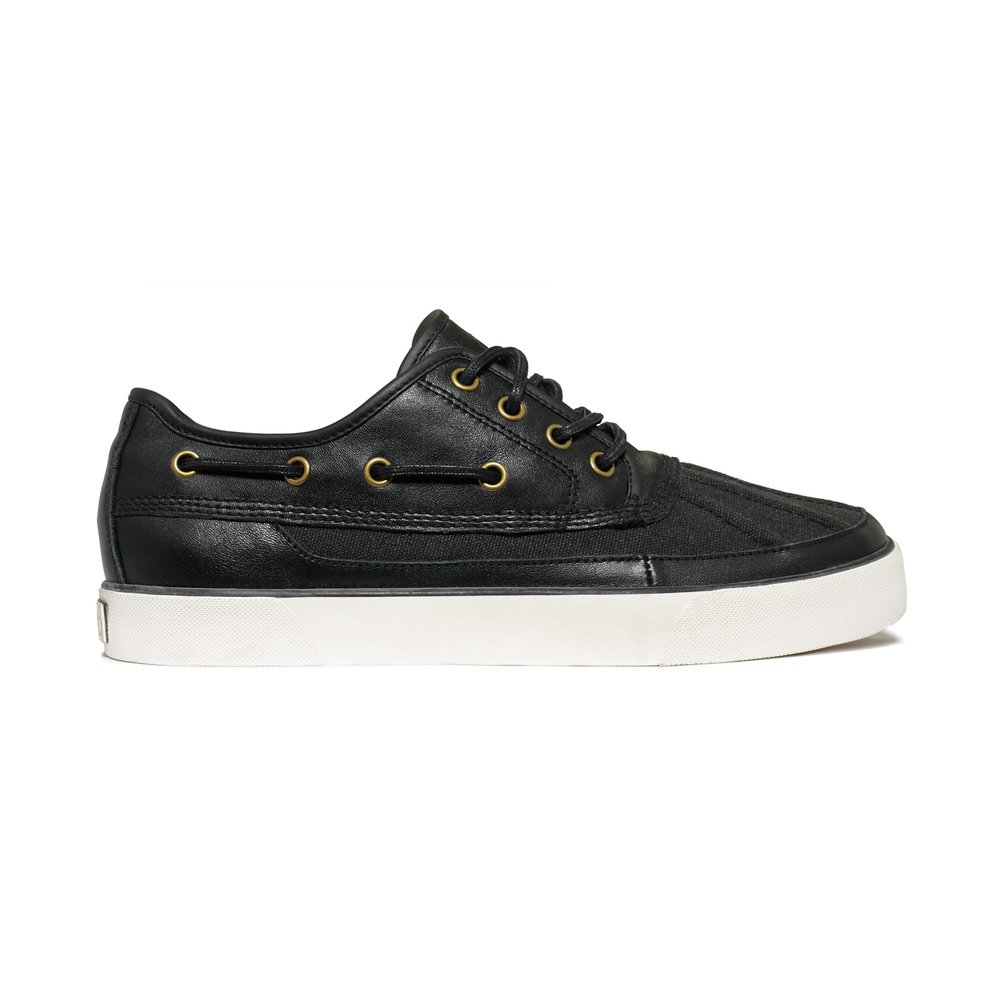 ralph parkstone low canvas and leather boat shoes