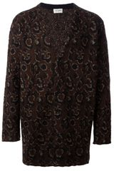 Saint Laurent Printed Cardigan - Lyst