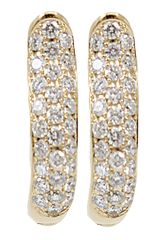 Tamara Comolli Pave Diamond Hoop Earrings - Lyst