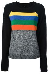 Tibi Striped Boucle Sweater - Lyst