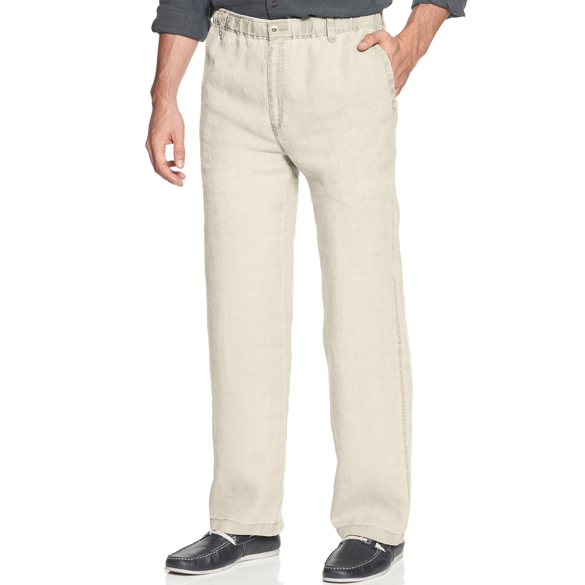 Tommy Bahama Linen On The Beach Pants In White For Men