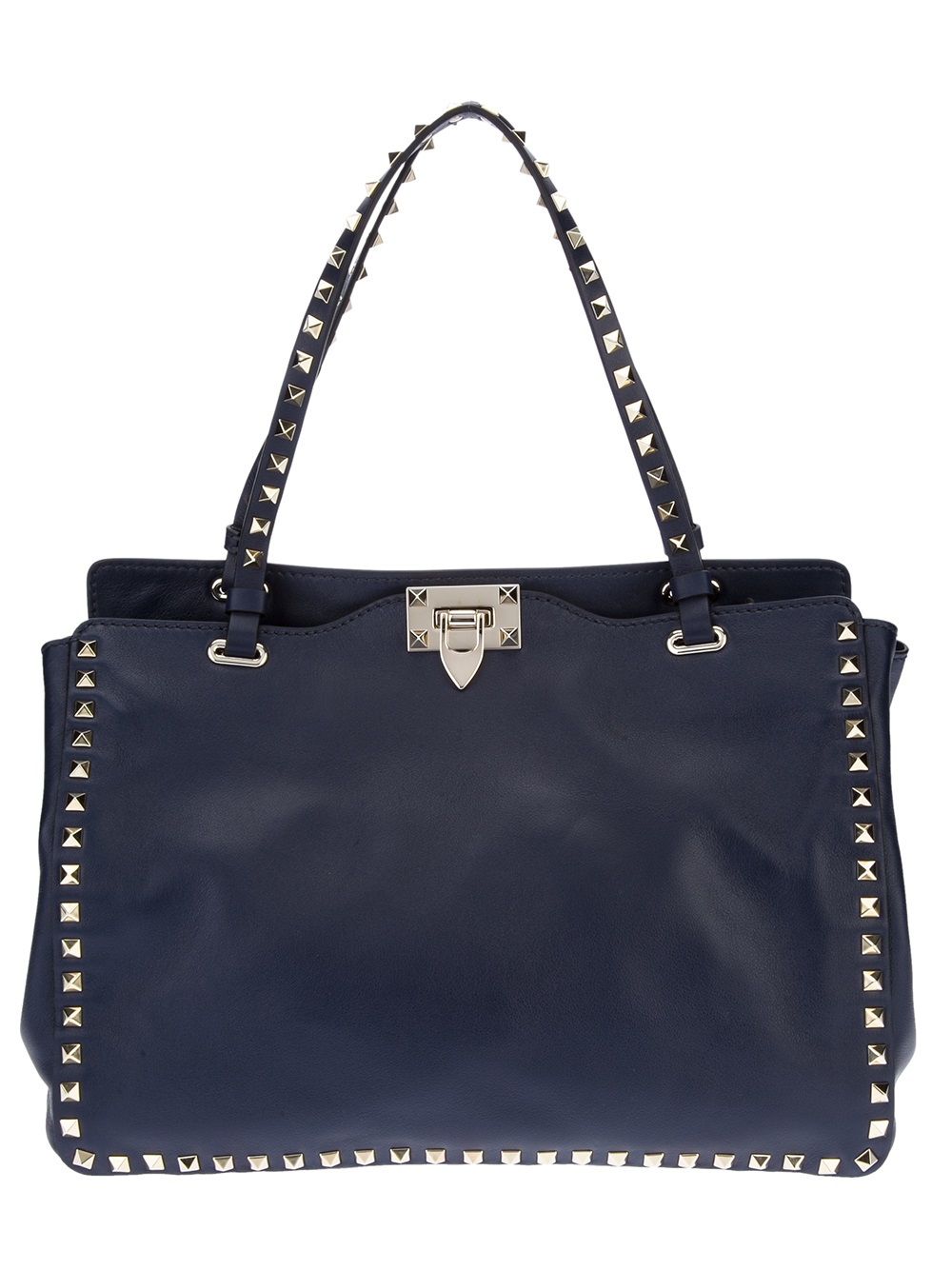 Lyst Valentino Studded Tote Bag In Blue