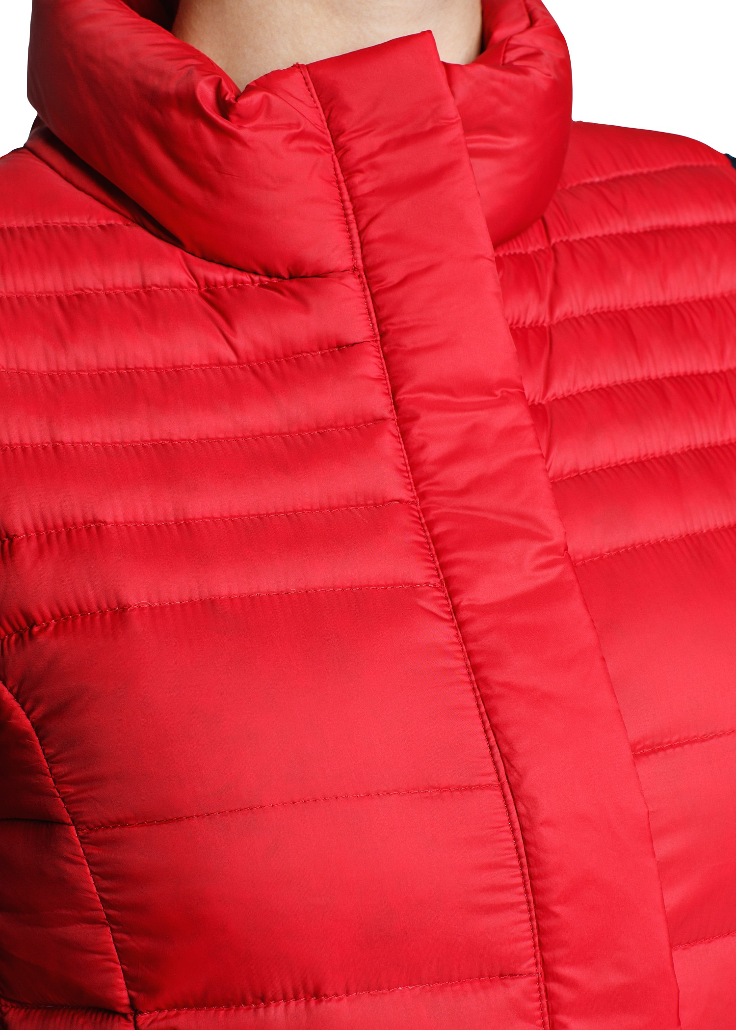 Mango Foldable Down Feather Gilet In Red Lyst