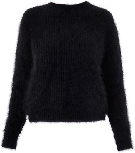 3.1 Phillip Lim Angora Ribbed Knit Sweater in Black Lyst