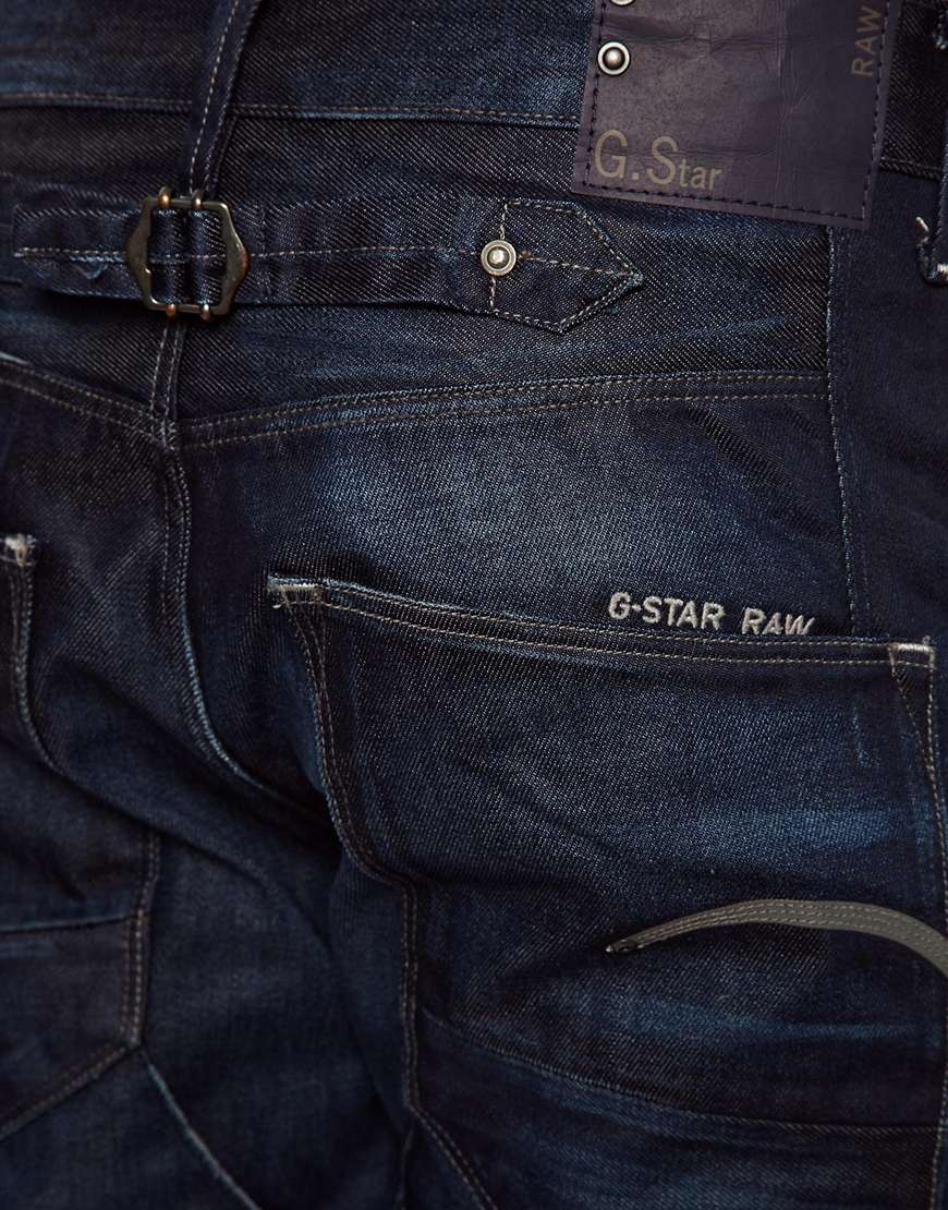 g star raw g star jeans blades tapered cinch back dark. Black Bedroom Furniture Sets. Home Design Ideas