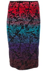 M Missoni Pattern Pencil Skirt - Lyst