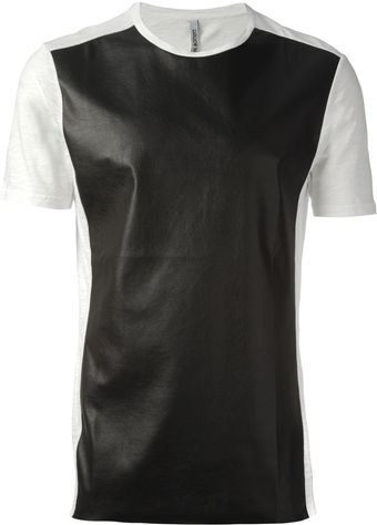 Neil Barrett Leather Look Tshirt - Lyst