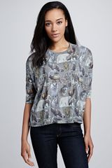 Paul & Joe Sister Brousse Animalprint Top - Lyst