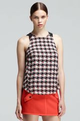 Rag & Bone Clemence Printed Leathertrim Top - Lyst