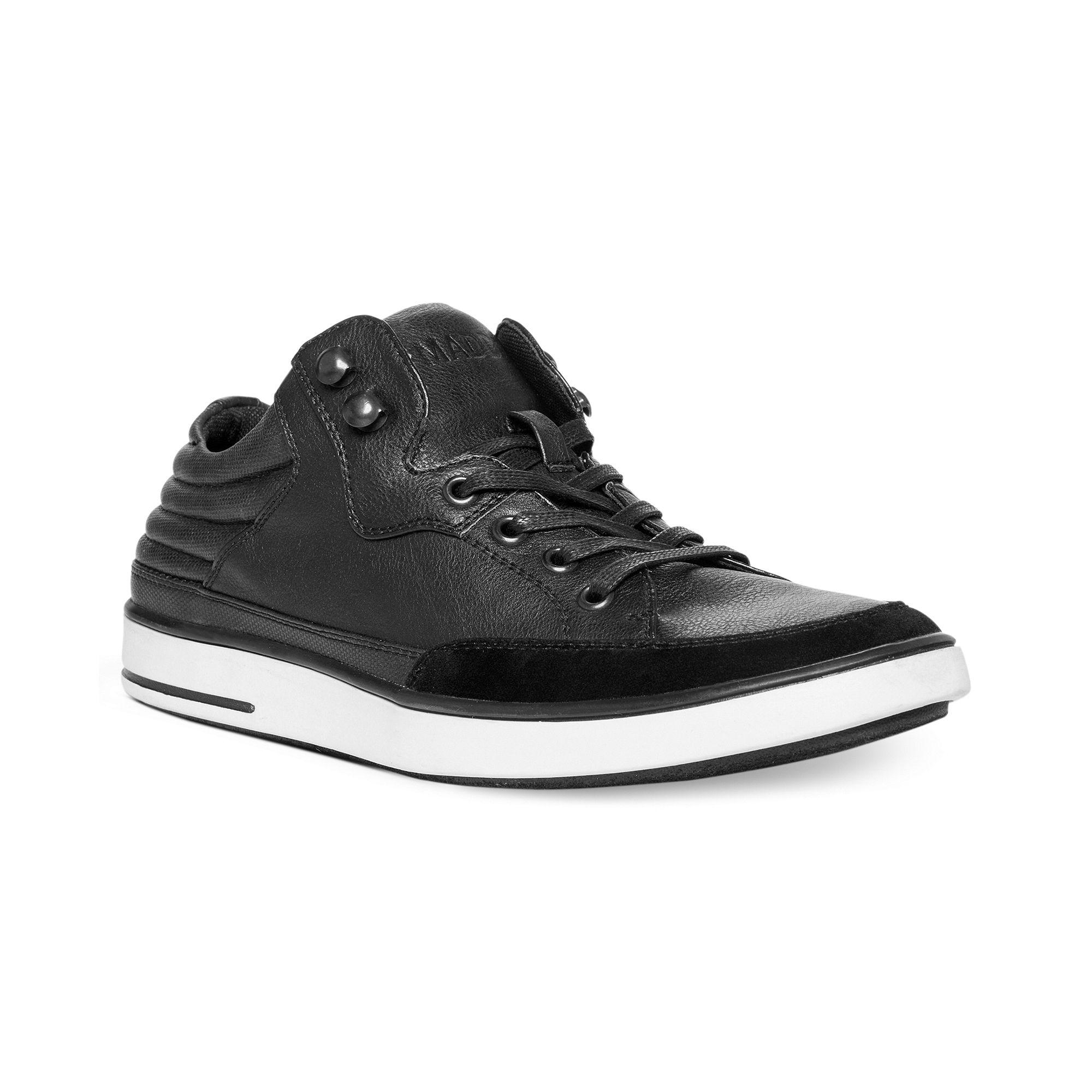 steve madden madden mens shoes symms sneakers in black for