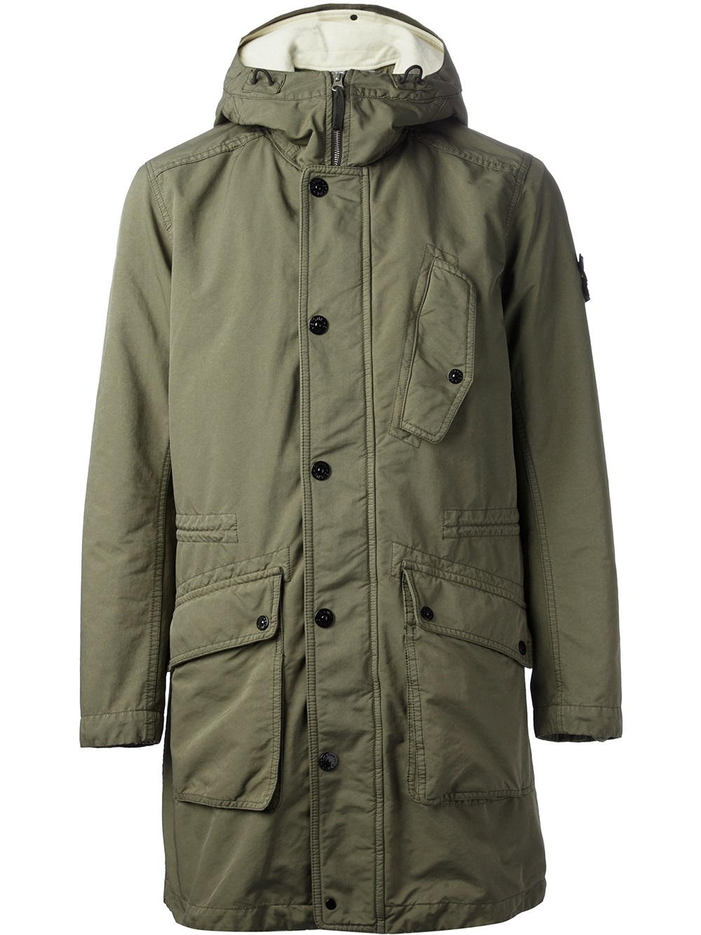 Lyst Stone Island Classic Parka Jacket In Green For Men