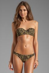 Tigerlily Olive Leopard Bodice in Brown - Lyst