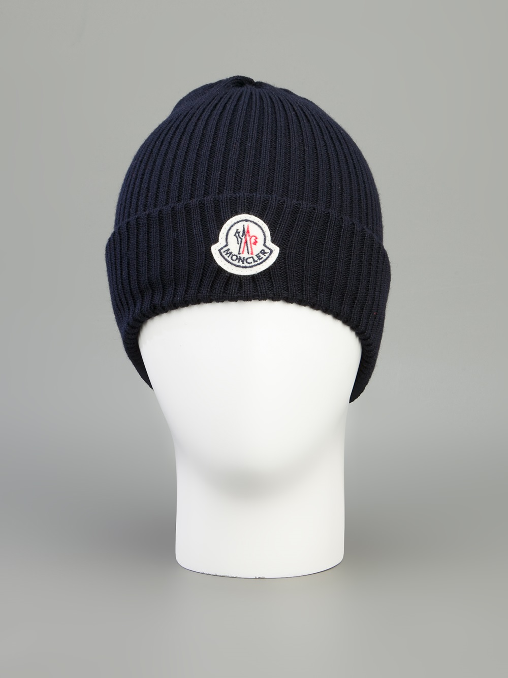 e499fe70a83 ... new zealand lyst moncler branded beanie hat in blue for men aba9f 9c85d