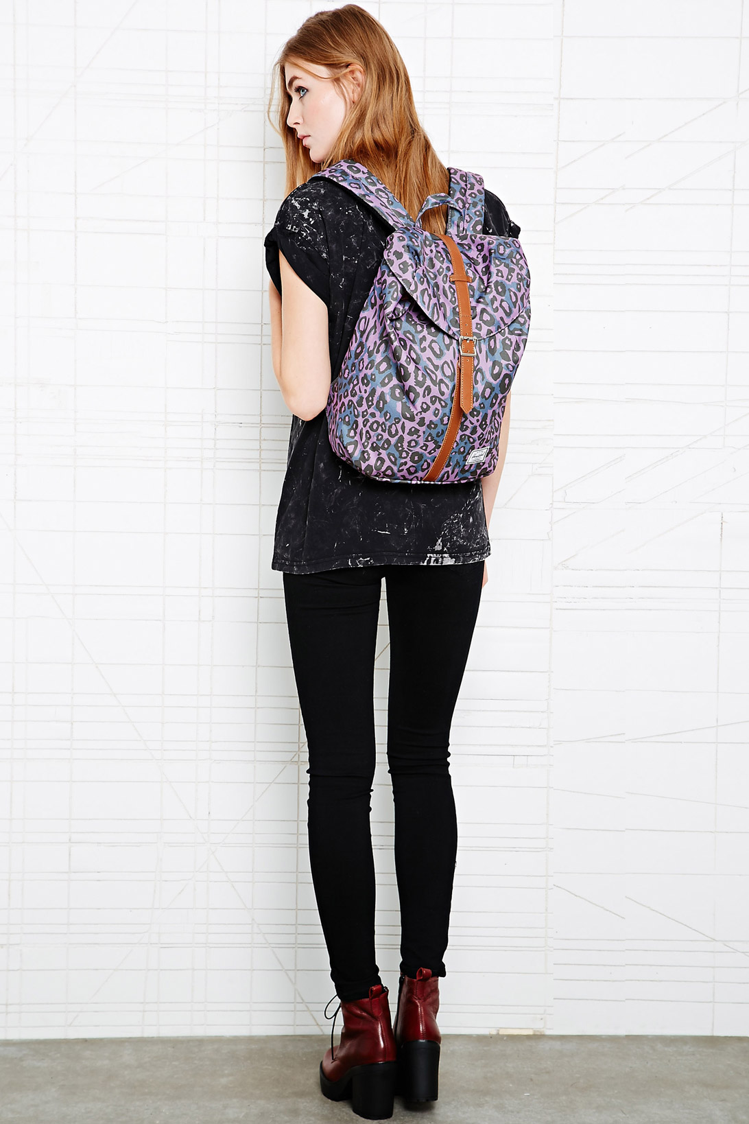 8884f319aa90 Dr. Denim Herschel Purple Post Backpack in Purple - Lyst
