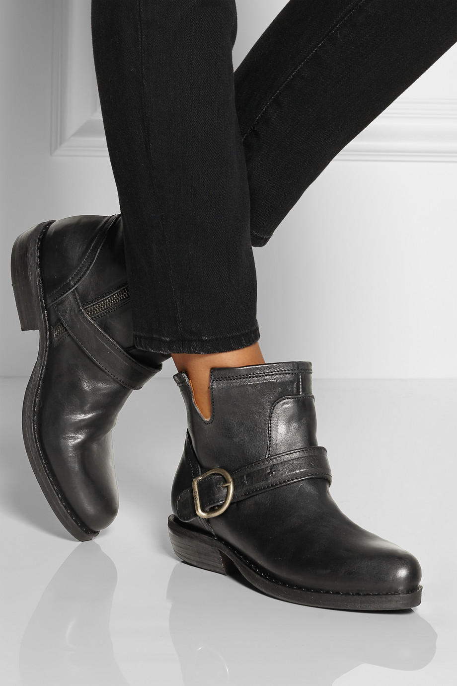 fiorentini baker chad leather ankle boots in black lyst