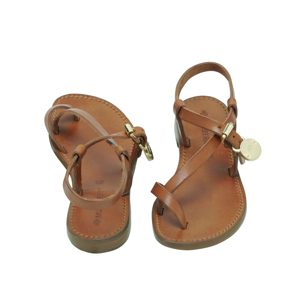 Lyst Mulberry Bayswater Flat Sandal In Brown