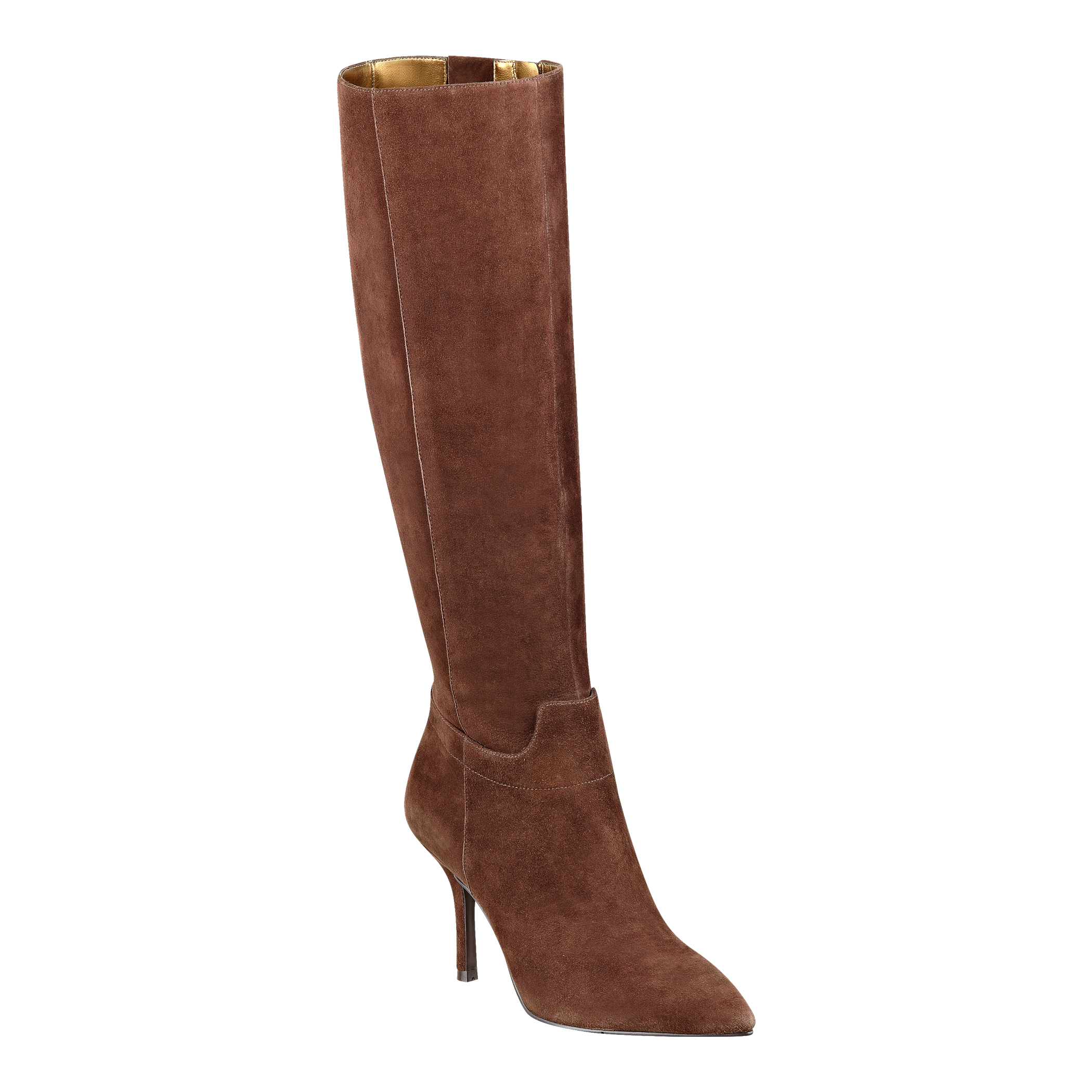 nine west getta boot in brown brown suede lyst