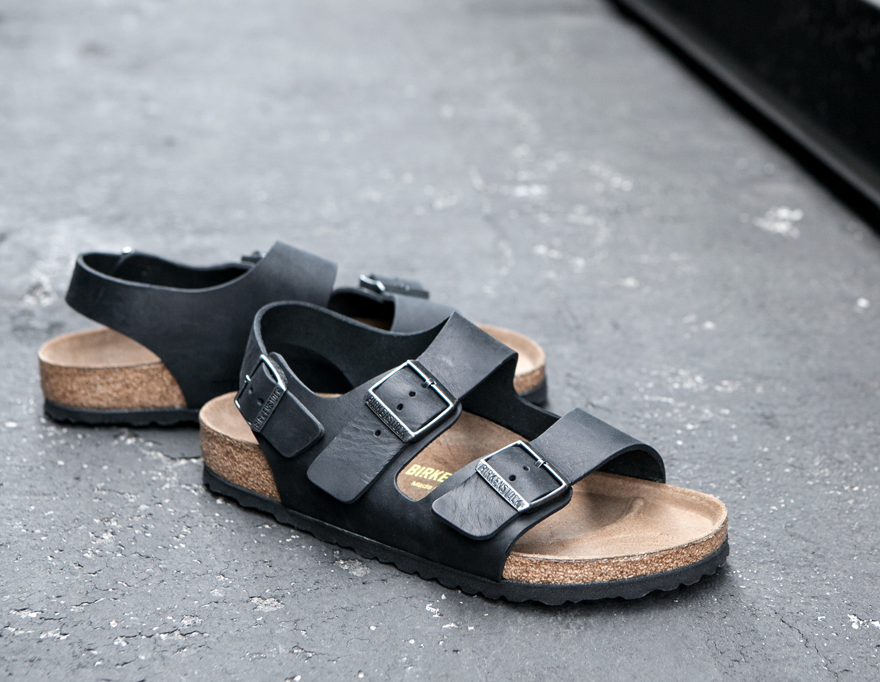 f94a068a9136 Lyst - James Perse Birkenstock Mens Milano Oiled Leather Sandal in ...