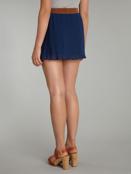 sodamix pleated mini skirt in blue navy lyst