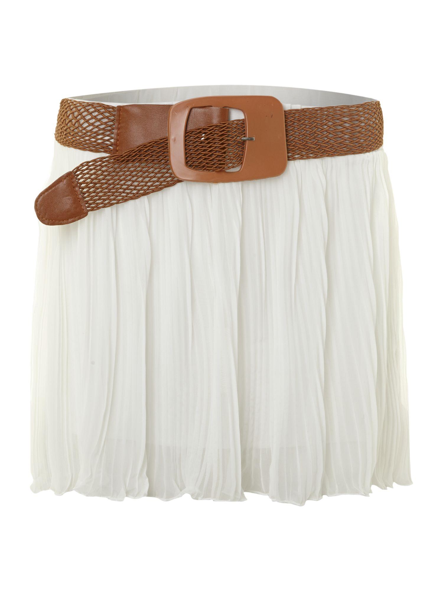 sodamix pleated mini skirt in white lyst