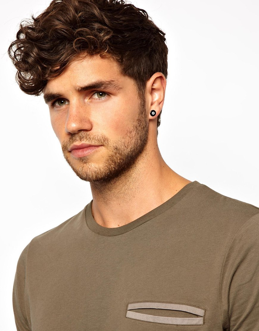 Lyst Asos Earrings With 8 In Black For Men