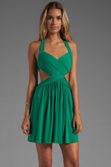 BCBGMAXAZRIA Shea Halter Dress in Green - Lyst