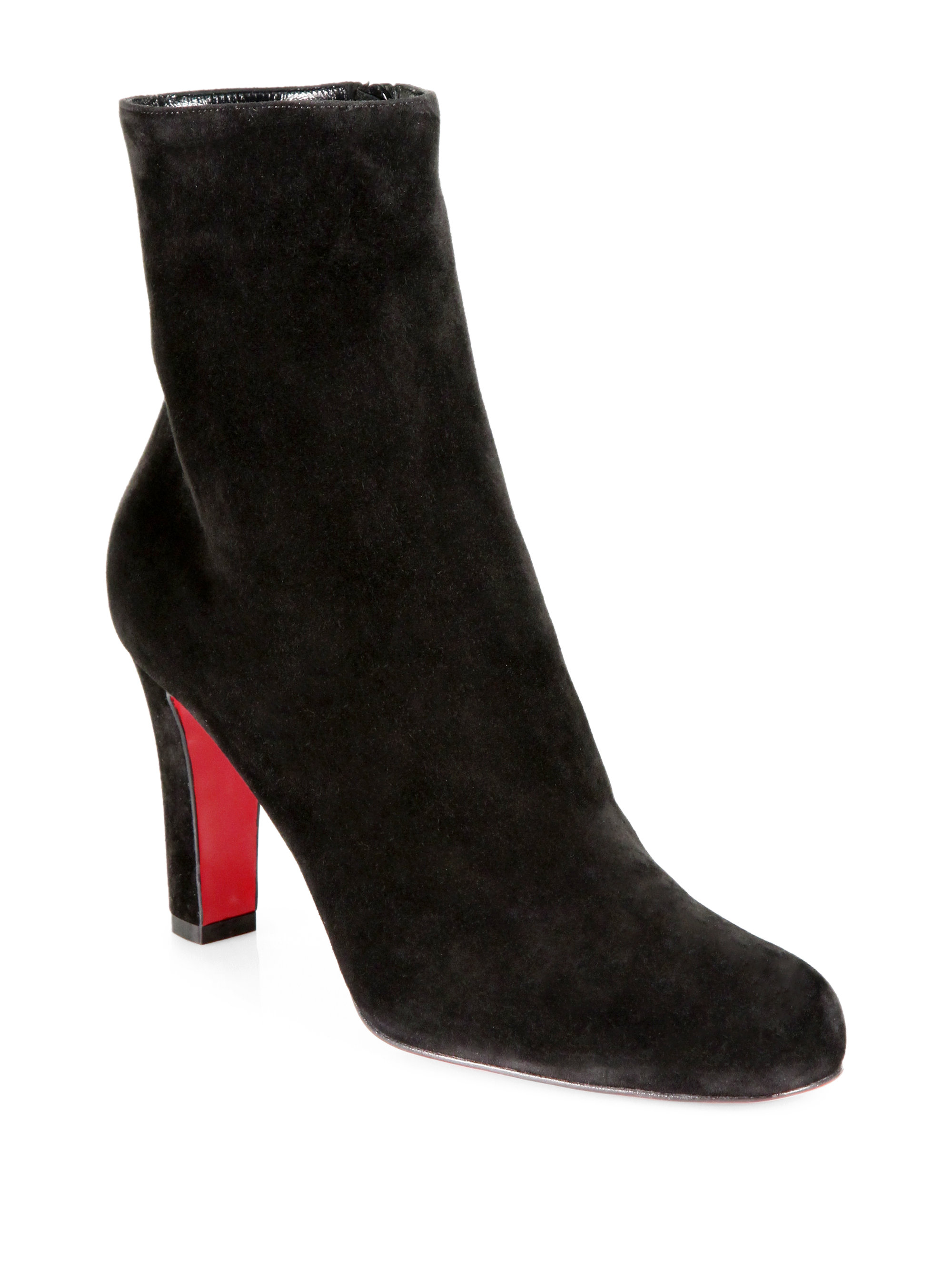 brand new 614a9 565e2 france christian louboutin suede ankle boots 261db 4330e