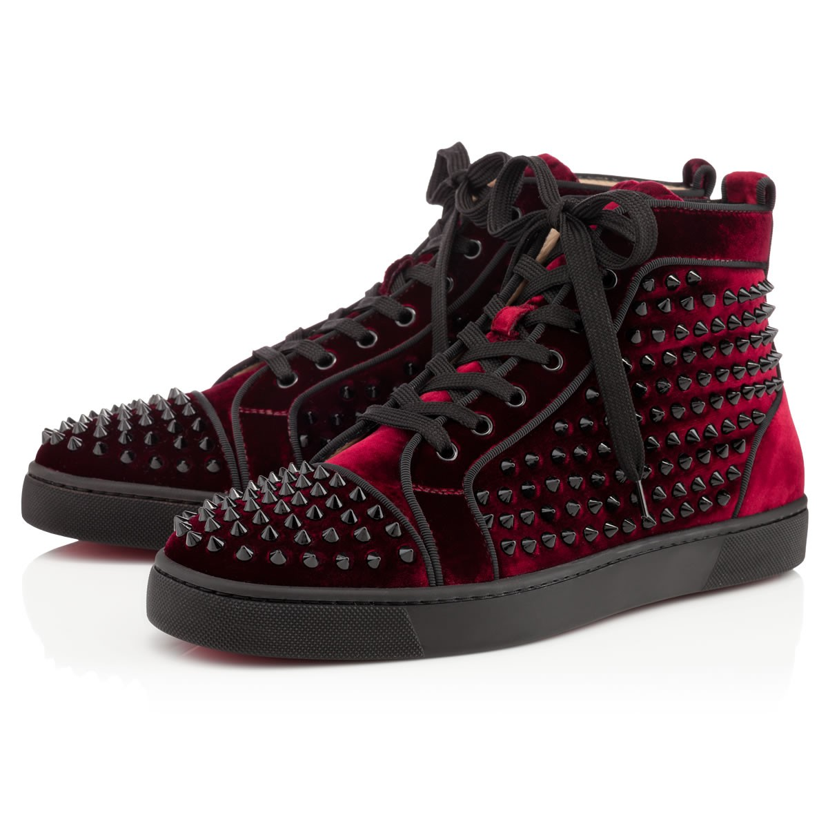 Christian Louboutin Louis Orlato Mens Spikes In Red For