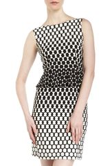 Donna Morgan Campbell Peplum Dress - Lyst