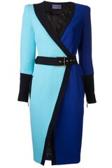 Emanuel Ungaro Two Tone Dress - Lyst