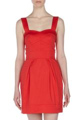 French Connection Sweetheart Poplin Dress Velarian Red - Lyst