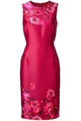 Giambattista Valli Floral Sleeveless Dress - Lyst
