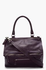 Givenchy Purple Textured Leather Pandora Bag - Lyst