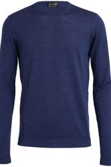 Jil Sander Wool Silk Knitted Jumper - Lyst