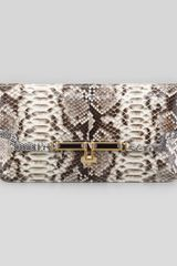 Kara Ross Mia Eastwest Python Clutch Bag - Lyst