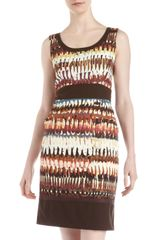 Lafayette 148 New York Printed Sheath Dress - Lyst