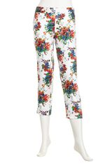 Laundry By Shelli Segal Floral-print Side-zip Capri Pants White - Lyst