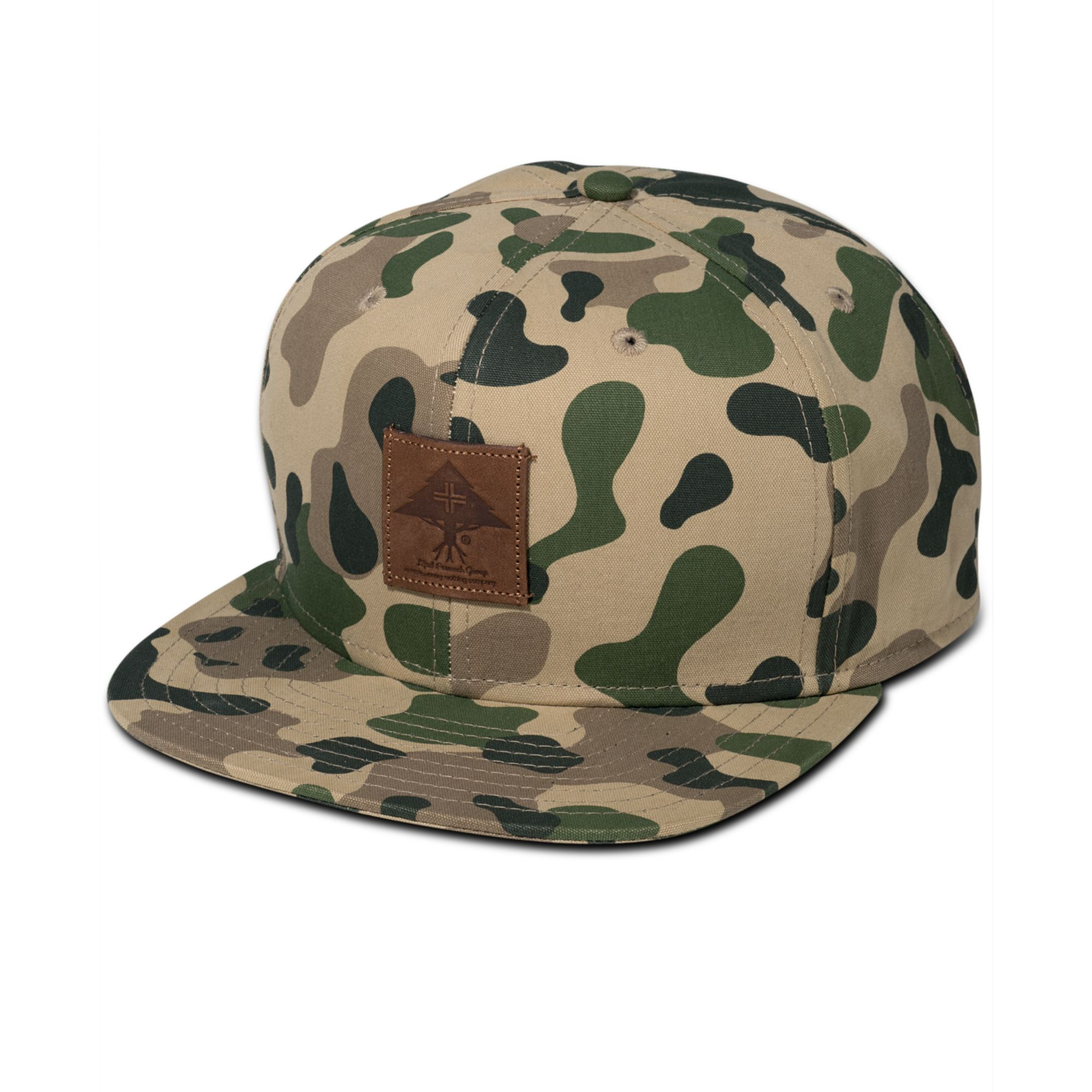16eac611a55 Lyst - LRG Roots Foundation Camo Hat in Green for Men